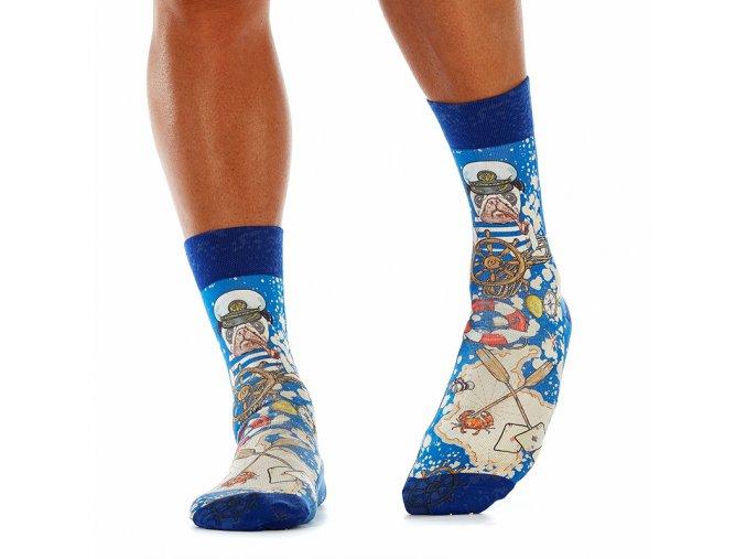 wigglesteps pánské ponožky SEA PUG