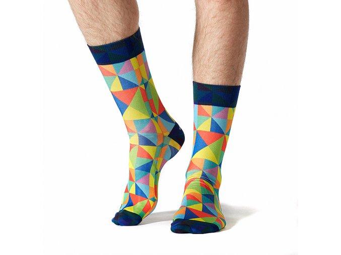 wigglesteps pánské ponožky COLORFUL GEO