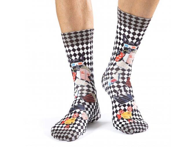 wigglesteps pánské ponožky CINEMA DOG