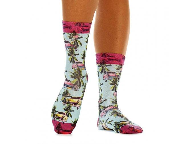 wigglesteps dámské ponožky TROPICAL CAR