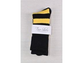 Two Shoes Ponožky pánské, žlutočerné