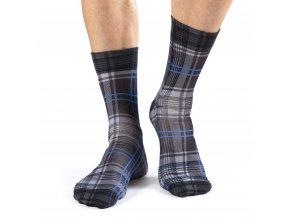 wigglesteps pánské ponožky BLACK PLAID
