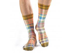wigglesteps pánské ponožky COLORFUL PLAID